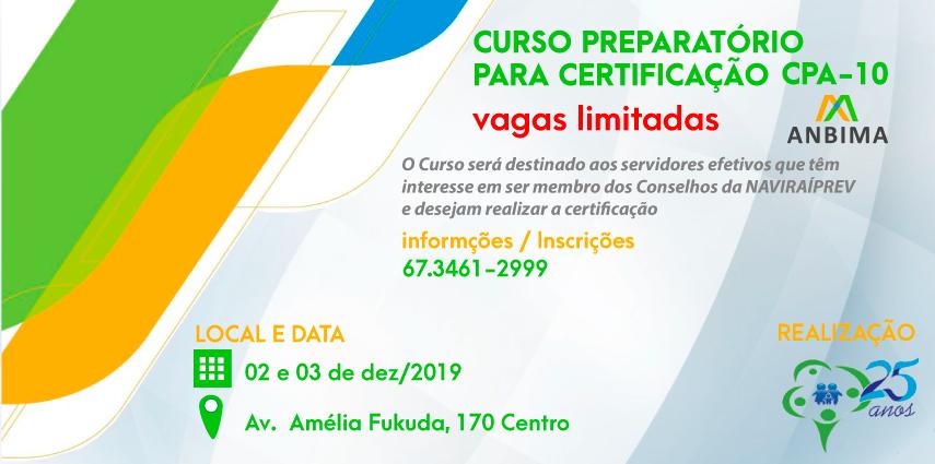 CURSO GESTÃO DE INVESTIMENTOS PREPARATÓRIO PARA CPA – 10 E CGRPPS